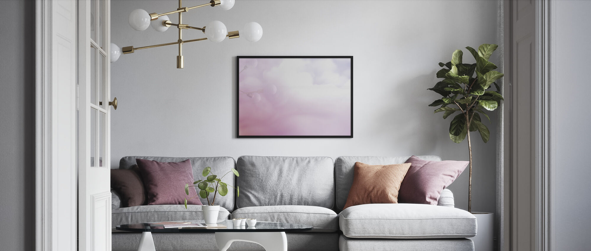 Floating Smoke - Framed print - Living Room
