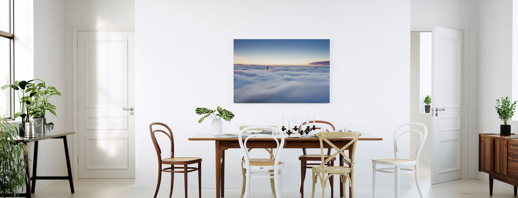 Fog over San Francisco - Canvas print - Kitchen