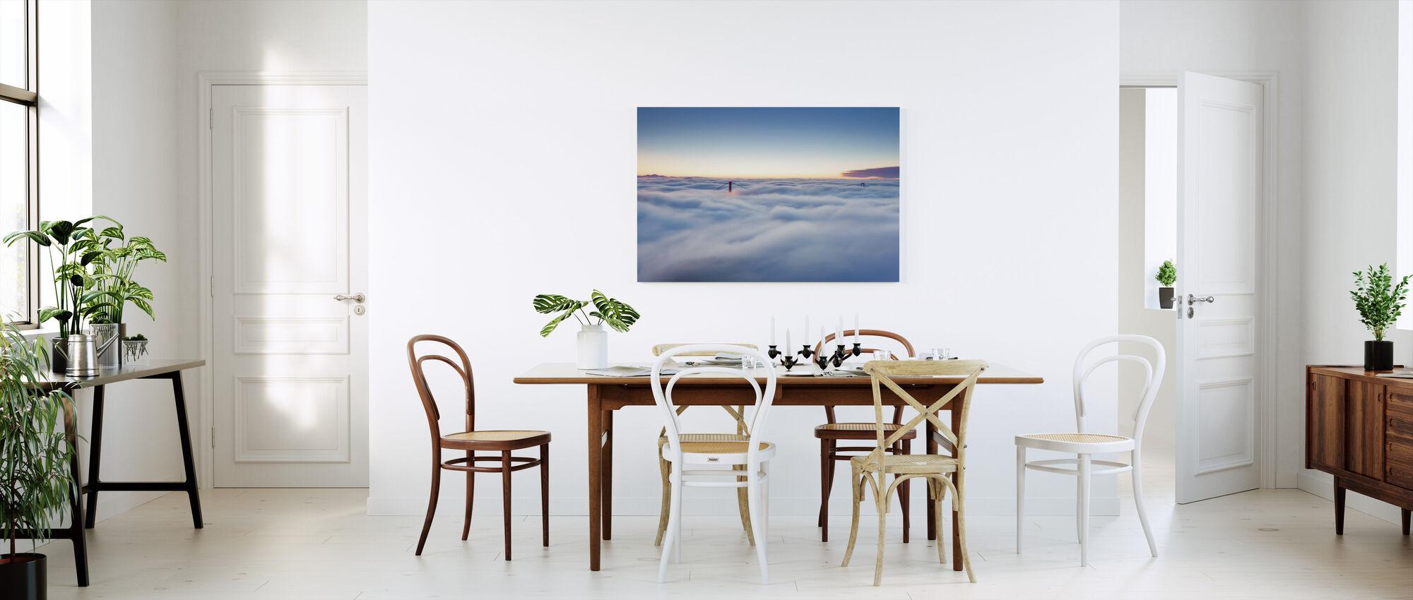 Fog over San Francisco - Canvas print - Kitchen