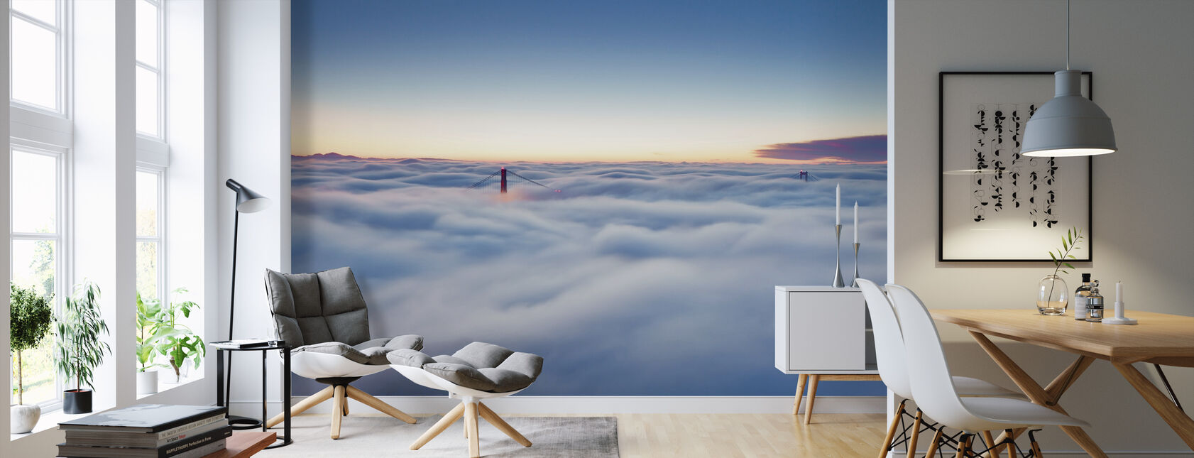 Fog over San Francisco - Wallpaper - Living Room