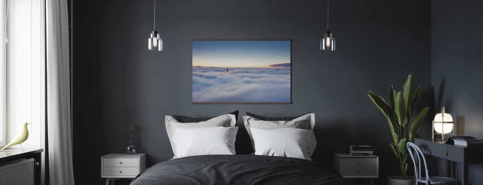 Fog over San Francisco - Poster - Bedroom