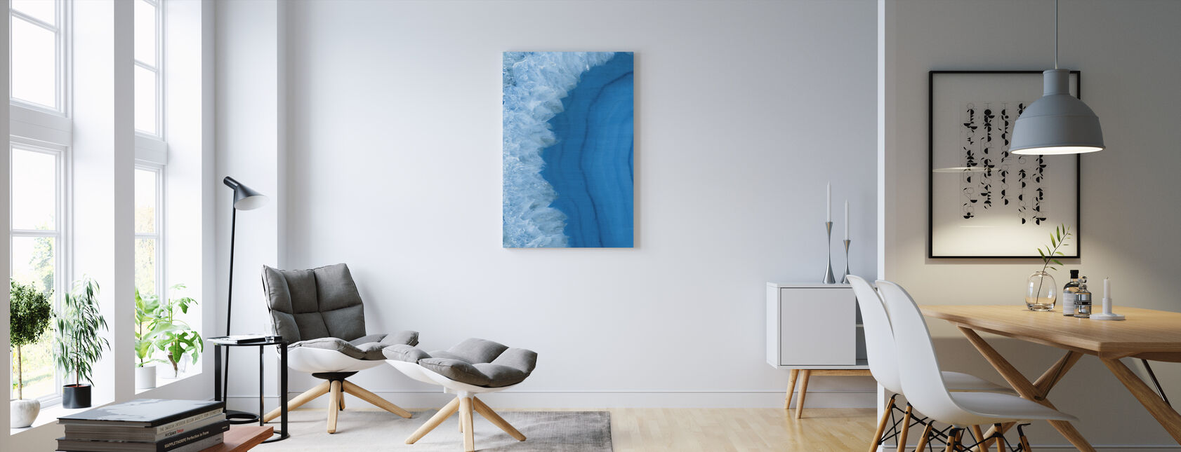 Agate Geode I - Canvas print - Living Room
