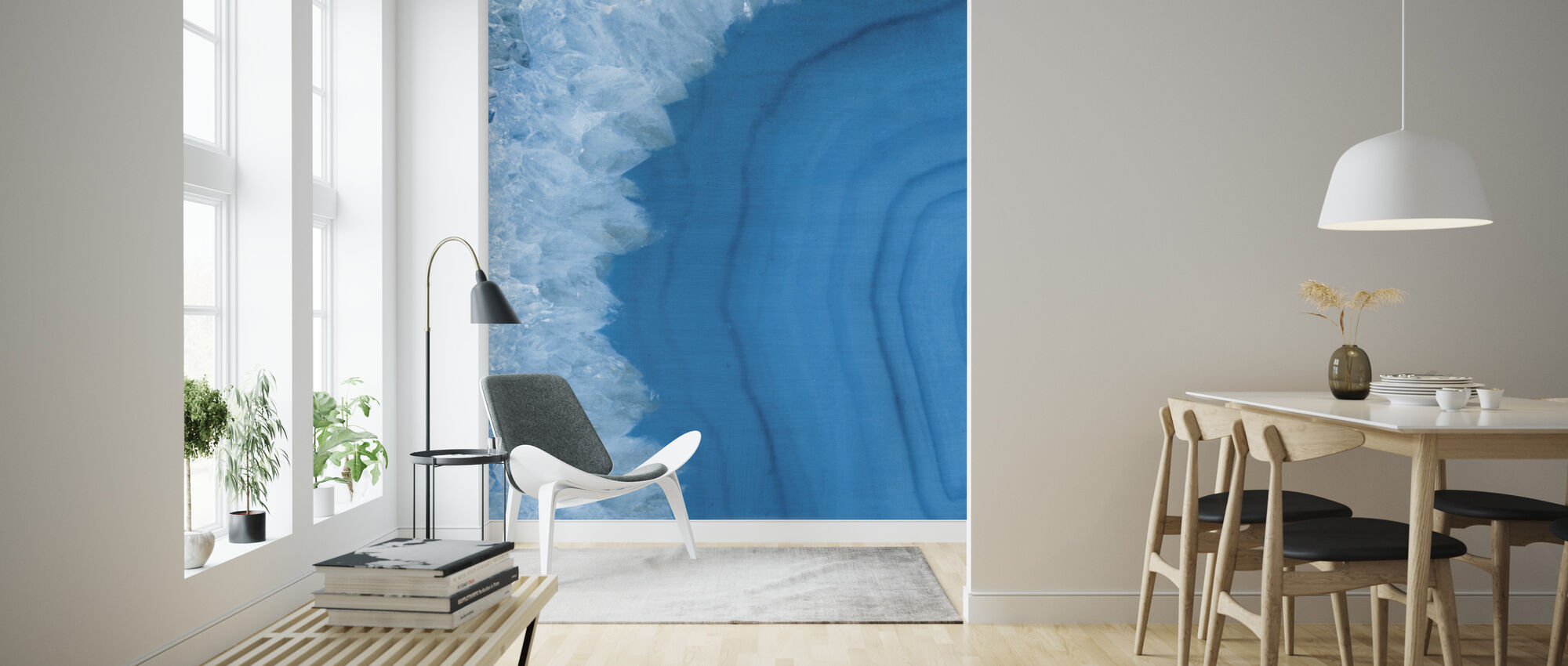 Agate Geode I - Wallpaper - Living Room