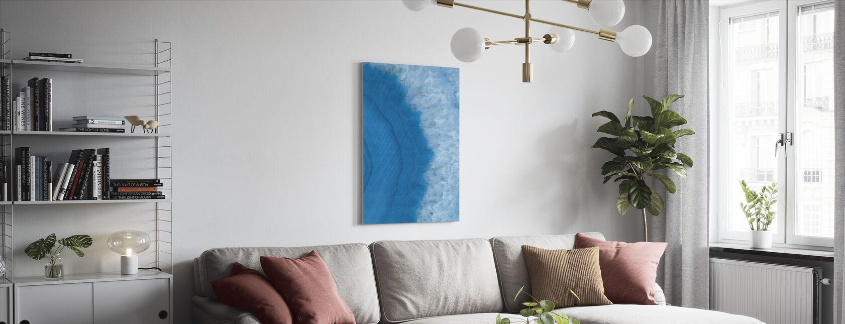 Agate Geode II - Canvas print - Living Room