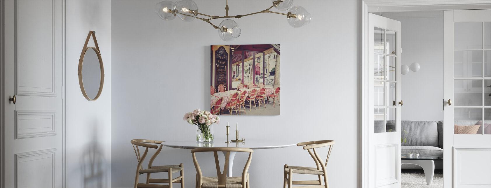 Cafe le Dome - Billede på lærred - Køkken