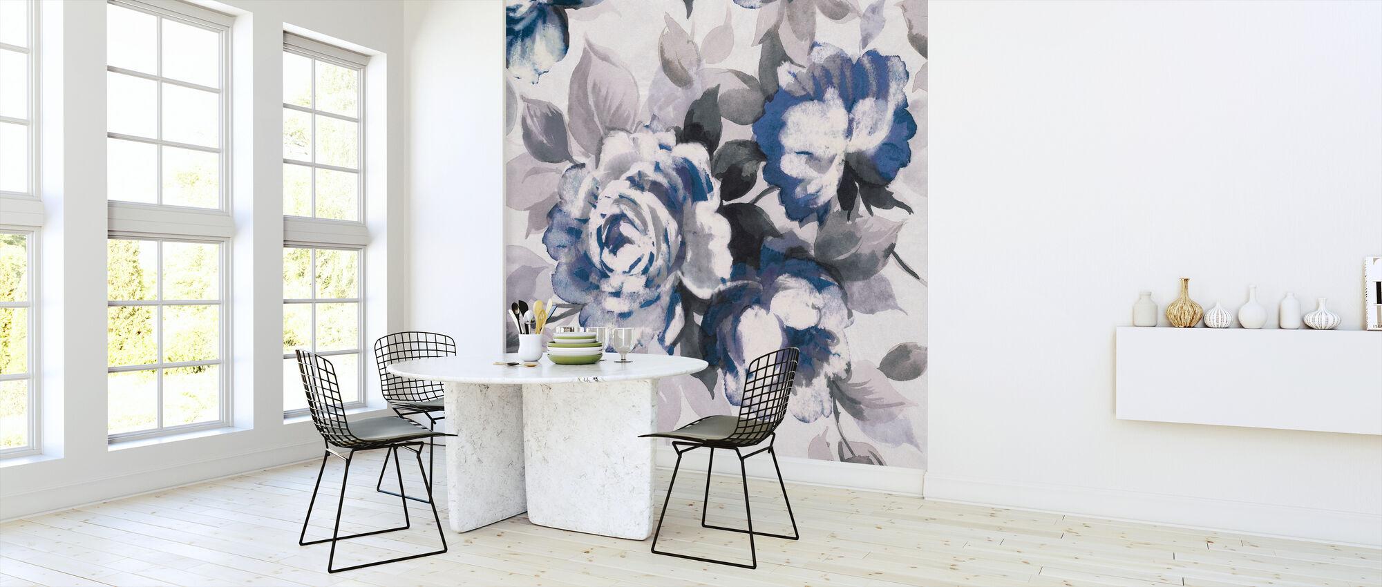 Geur van rozen Indigo III - Behang - Keuken