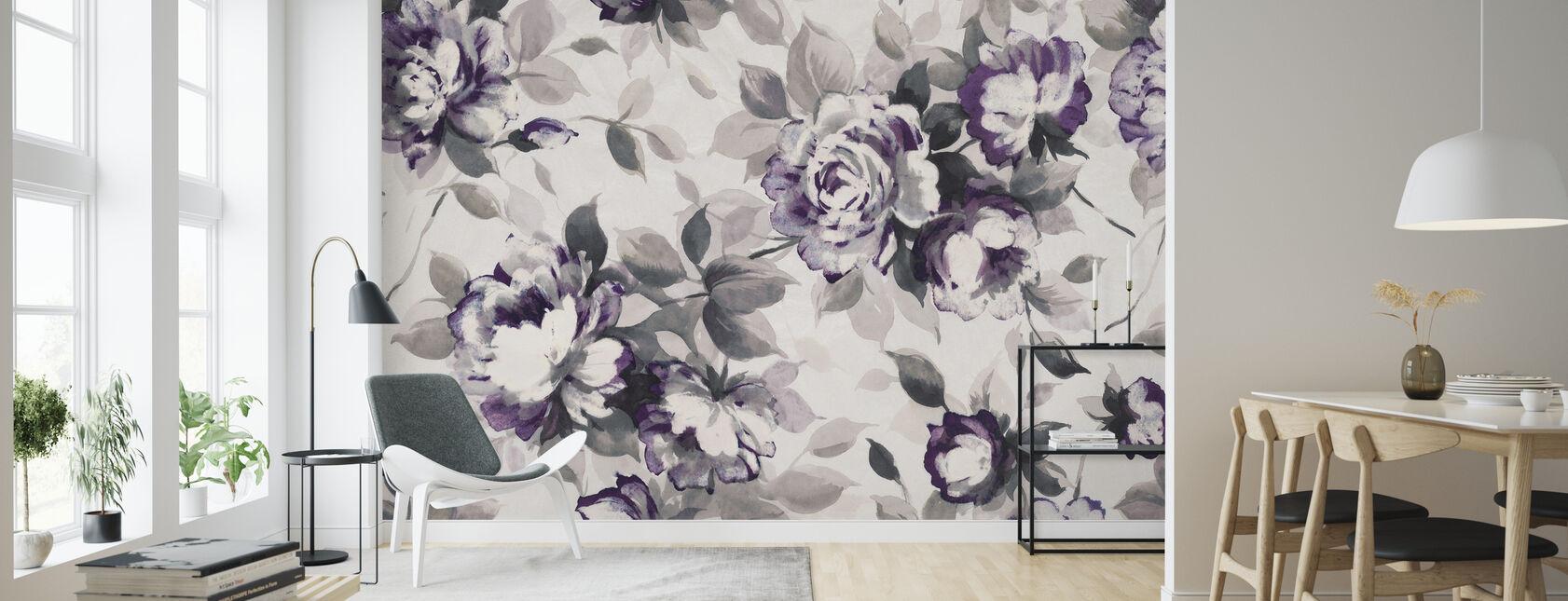 Doft av rosor plommon - Tapet - Vardagsrum
