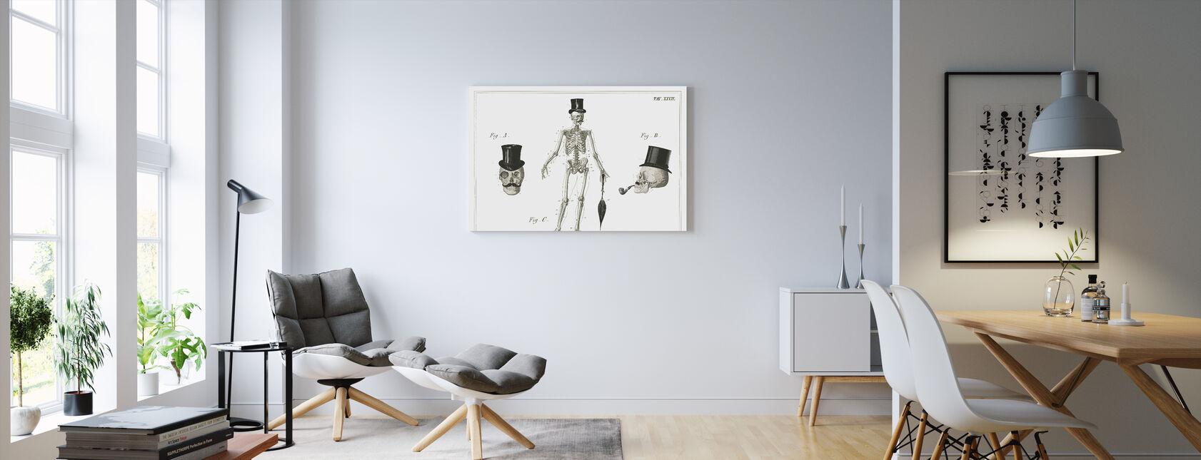 Dandy Bones - Canvas print - Living Room