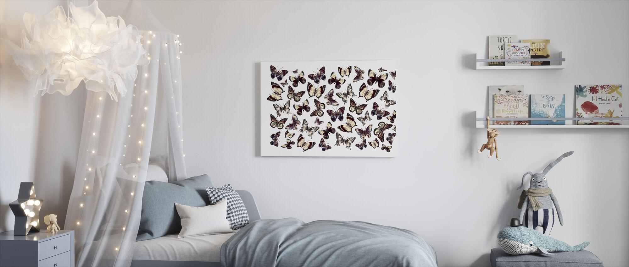 Mooie vlinders - Canvas print - Kinderkamer