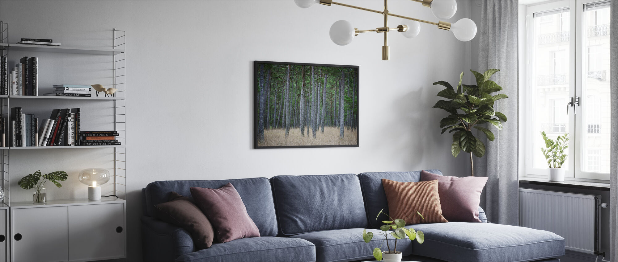 Mystery Pine Forest - Framed print - Living Room