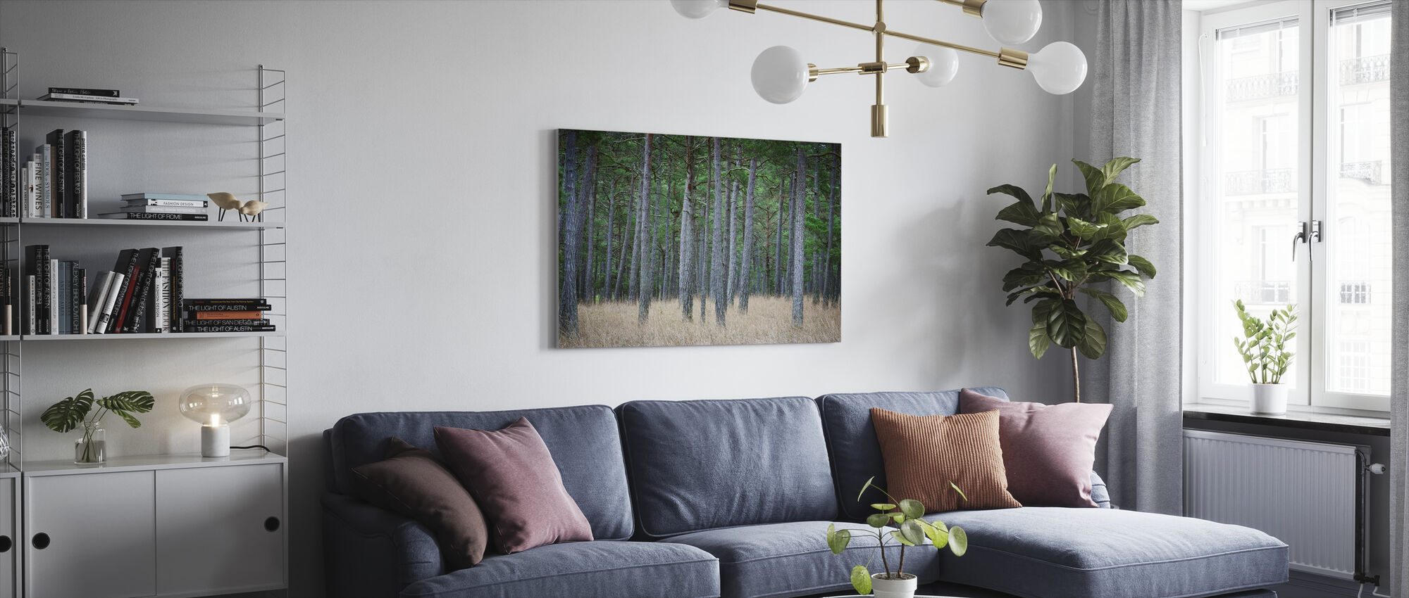 Mystery Pine Forest - Canvas print - Living Room
