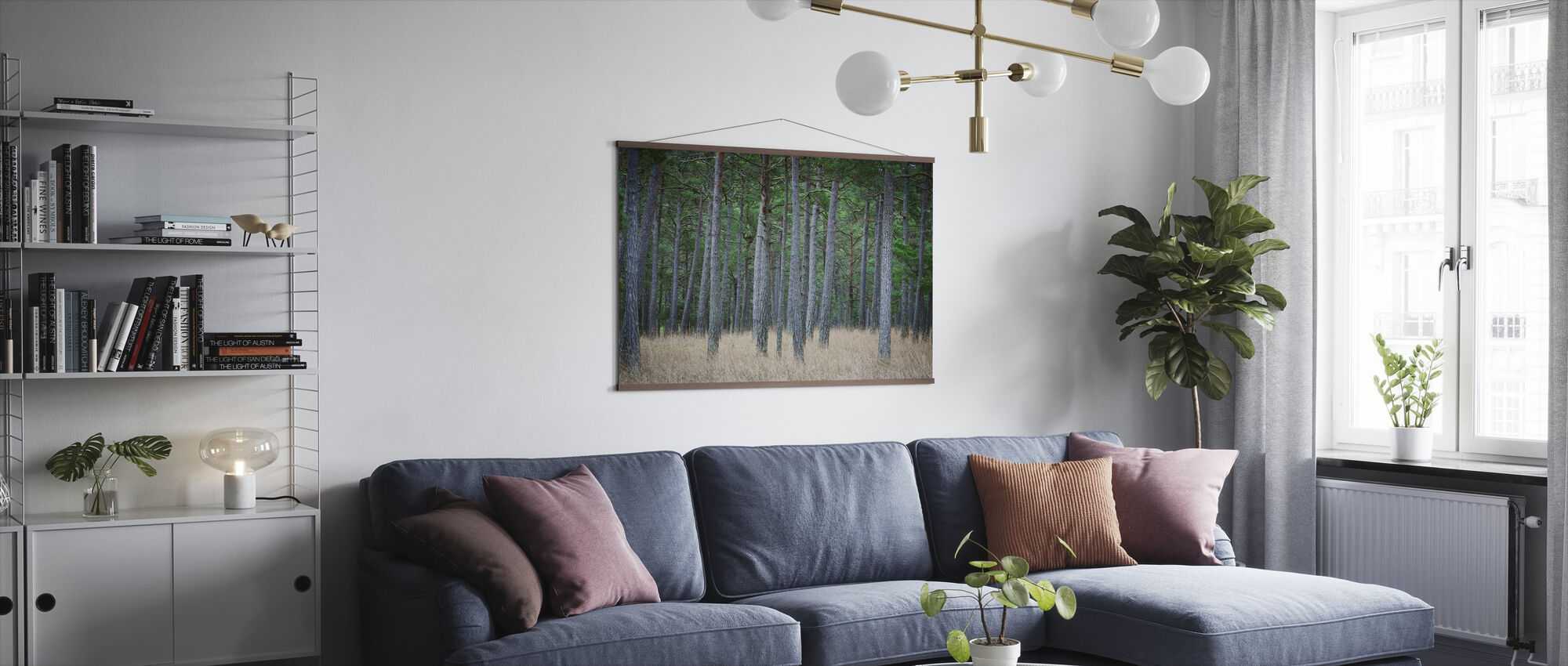 Mystery Pine Forest - Poster - Living Room