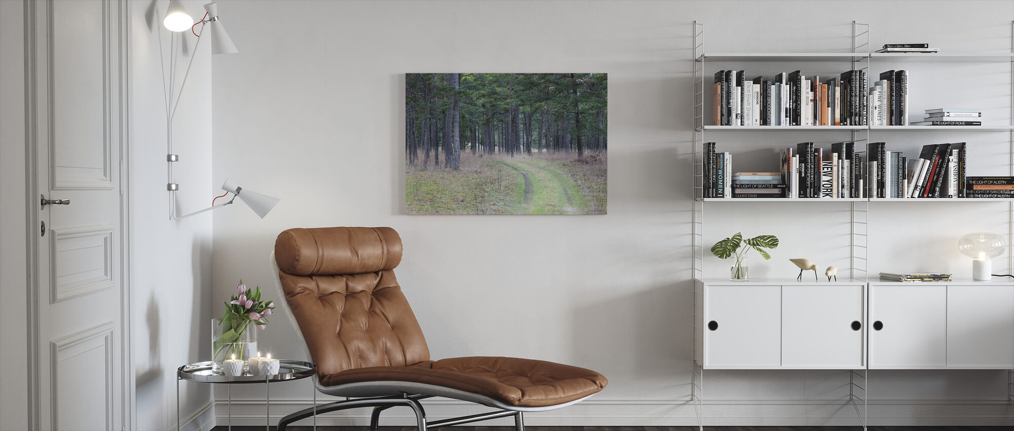 Pine Forest Road - Canvas print - Living Room