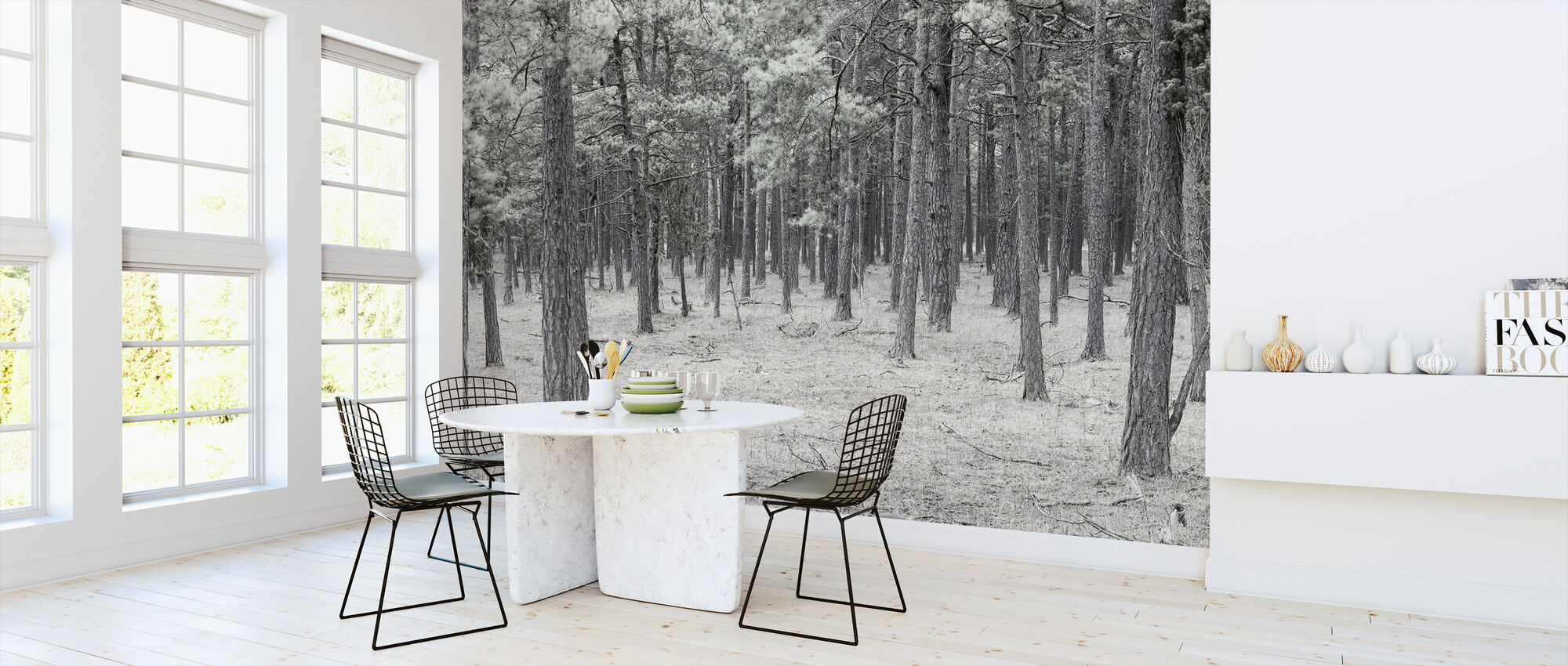 Pine Tree Forest - Wallpaper - Kitchen