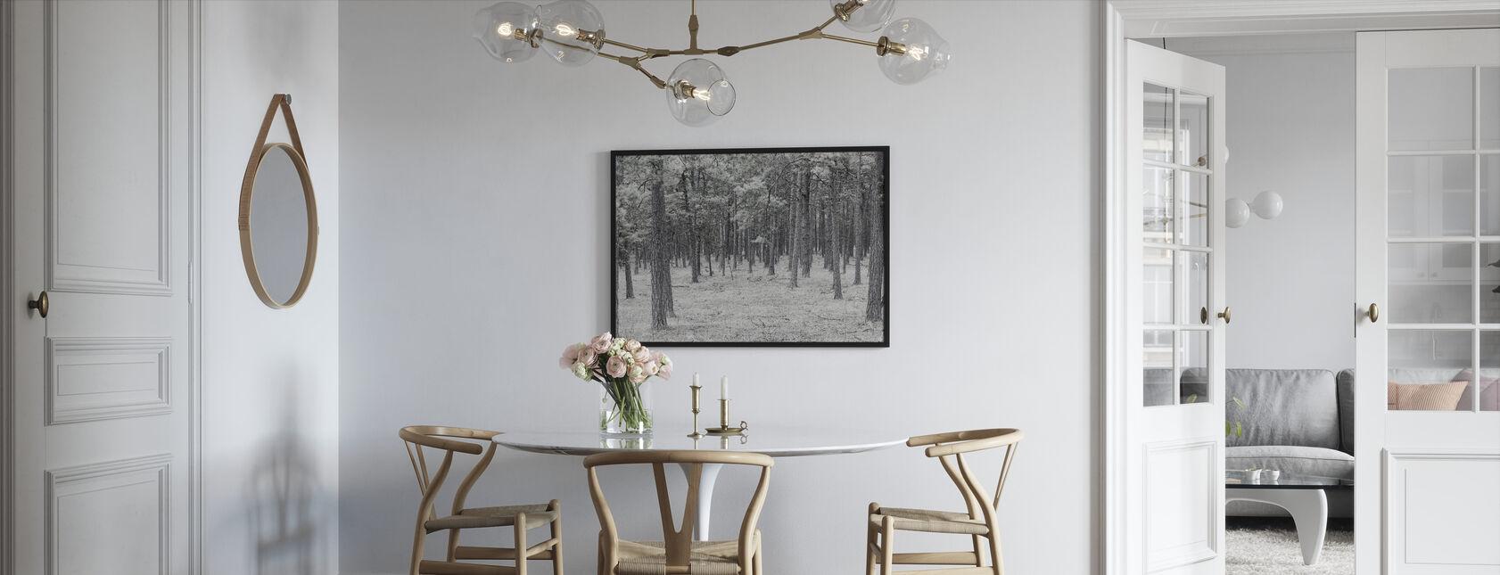 Pine Tree Forest - Framed print - Kitchen