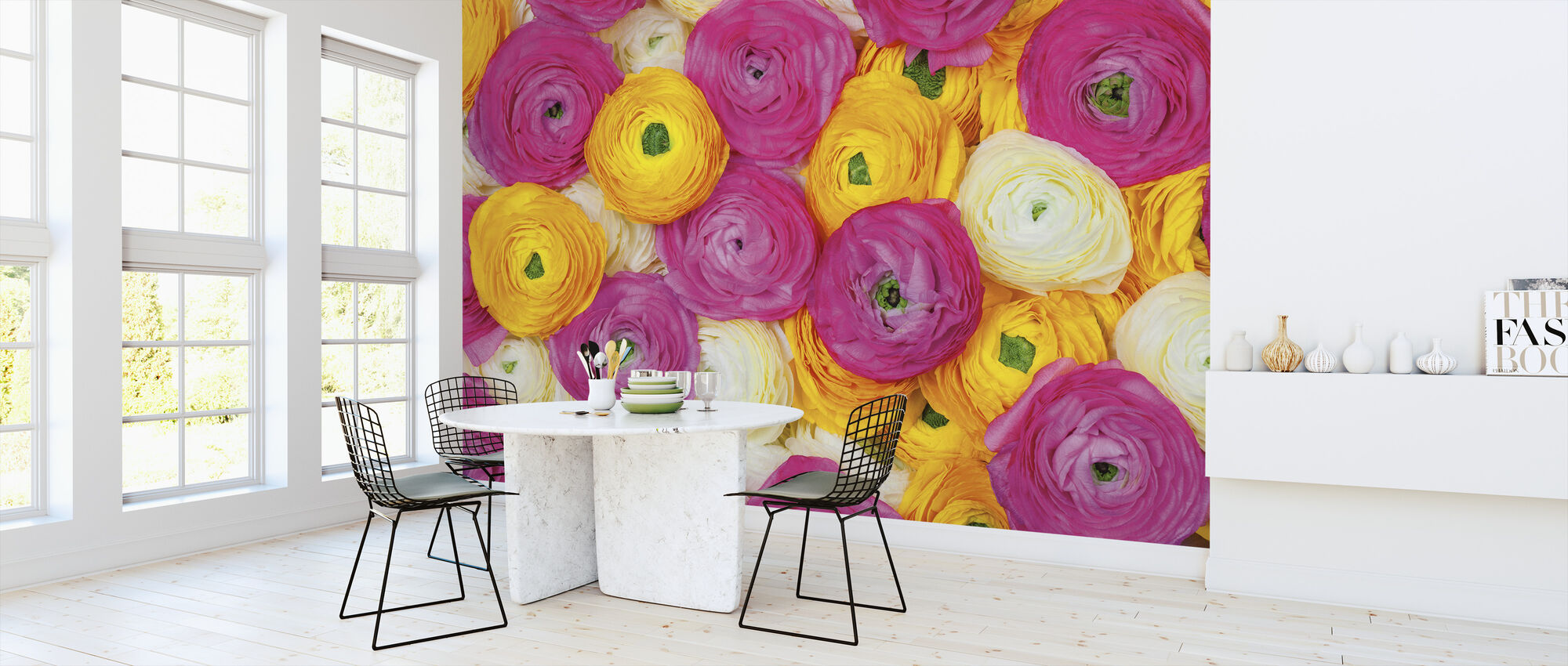 Ranunculus - Wallpaper - Kitchen