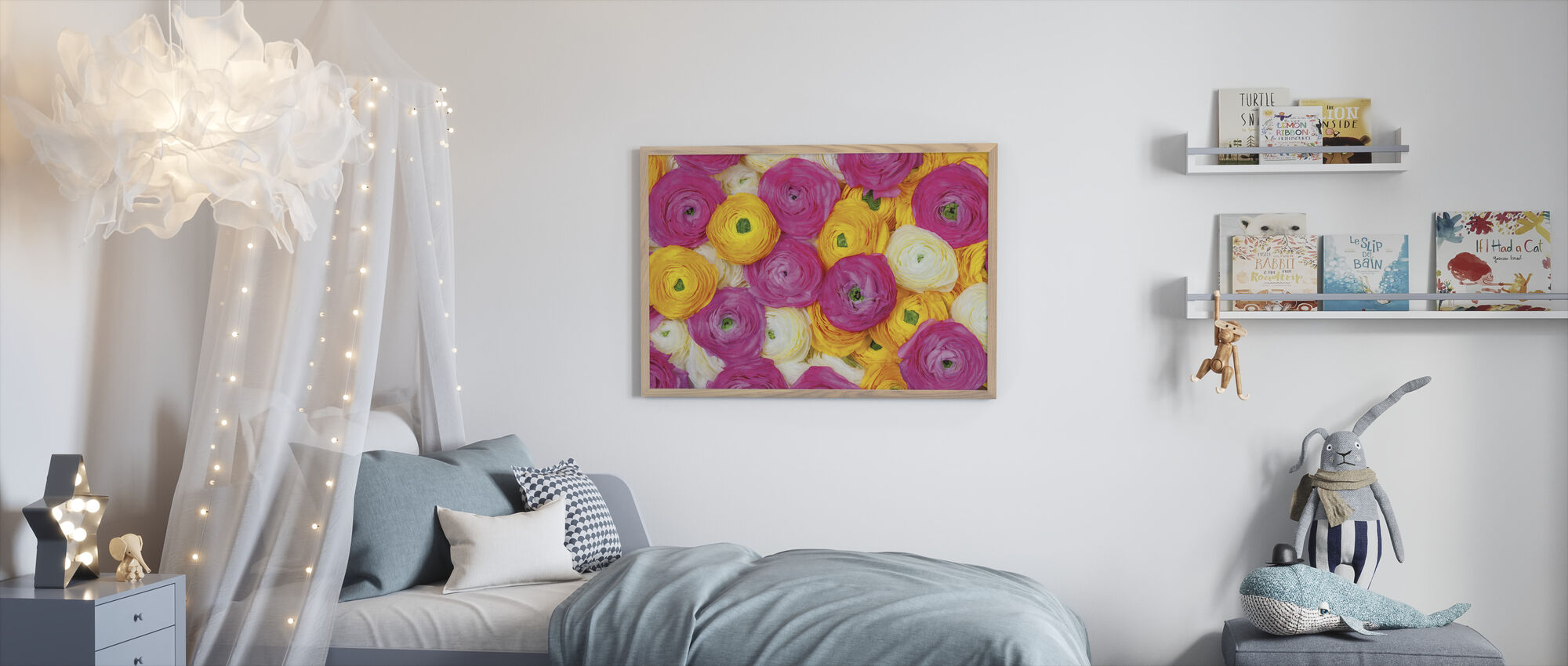 Ranunculus - Framed print - Kids Room