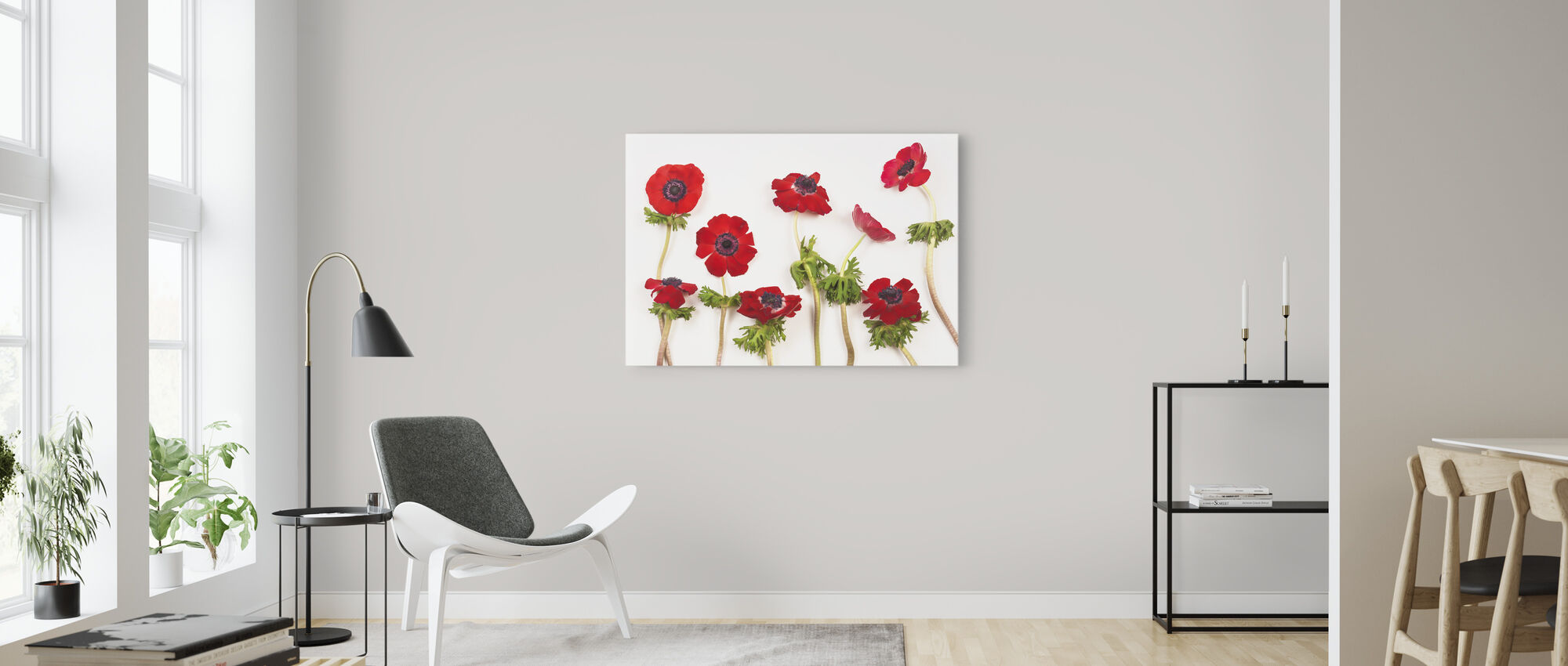 Red Anemons - Canvas print - Living Room