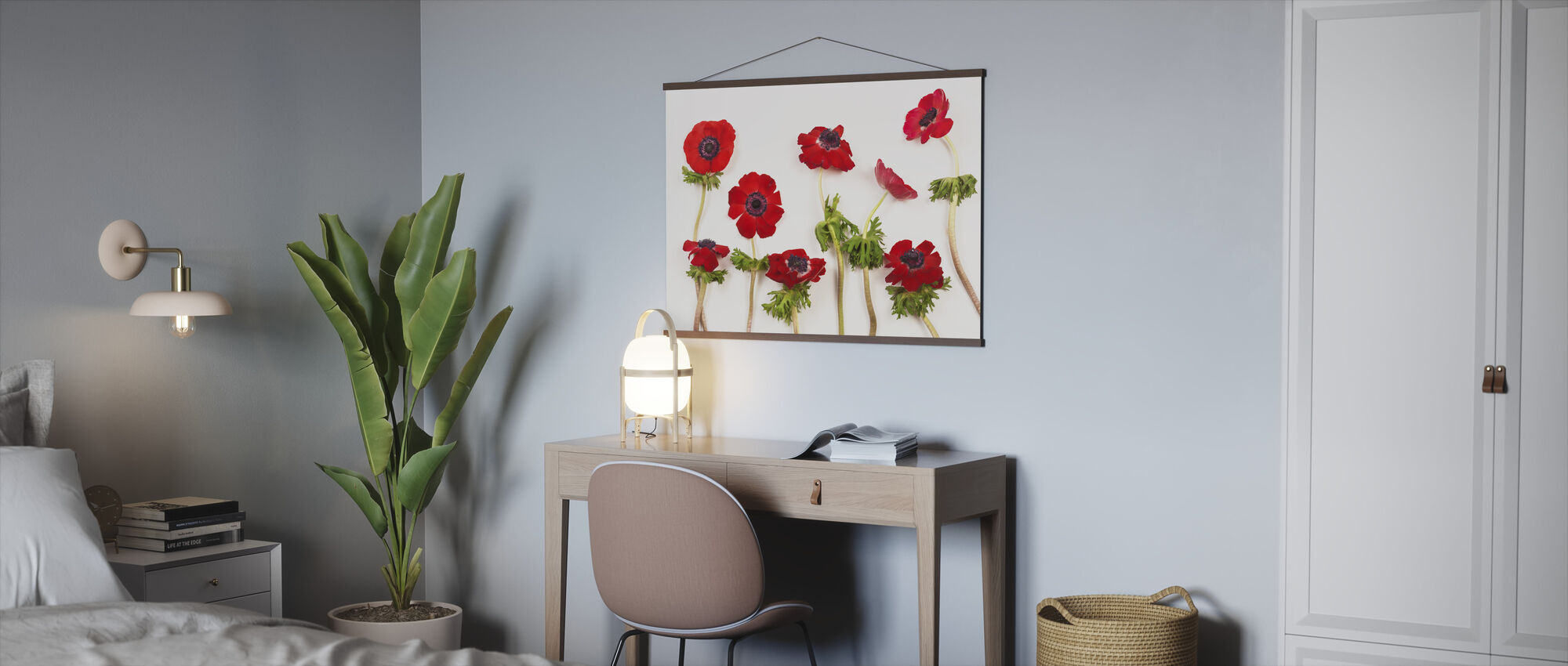 Red Anemons - Poster - Office