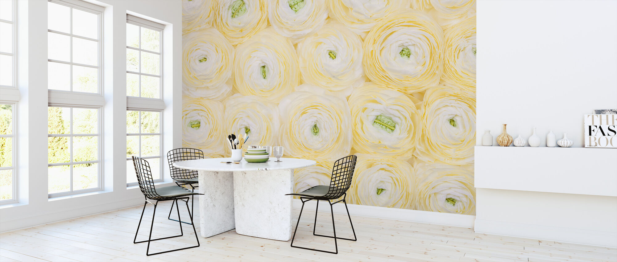 Soft Yellow Ranunculus - Wallpaper - Kitchen