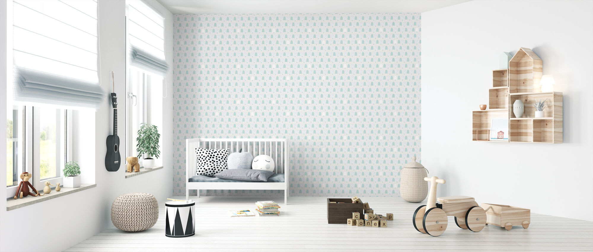 Ice Cream Turquoise - Wallpaper - Nursery