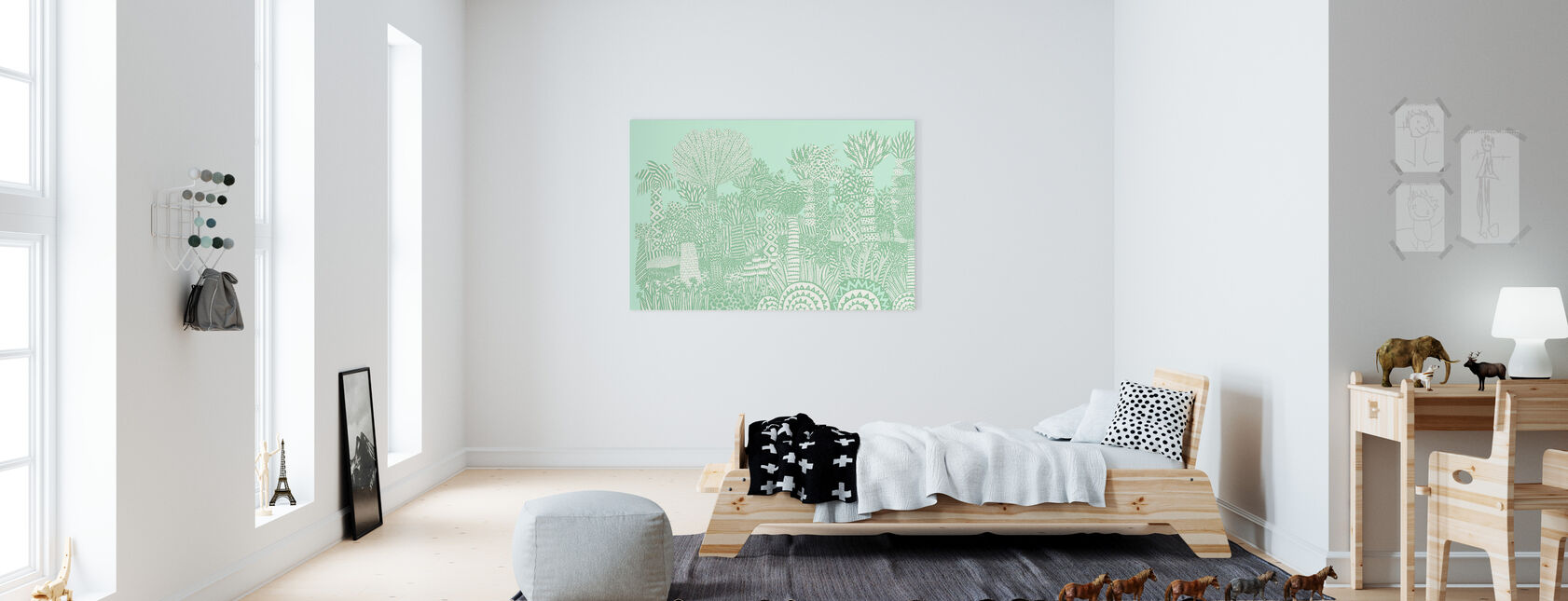 Jungle Green - Canvas print - Kids Room