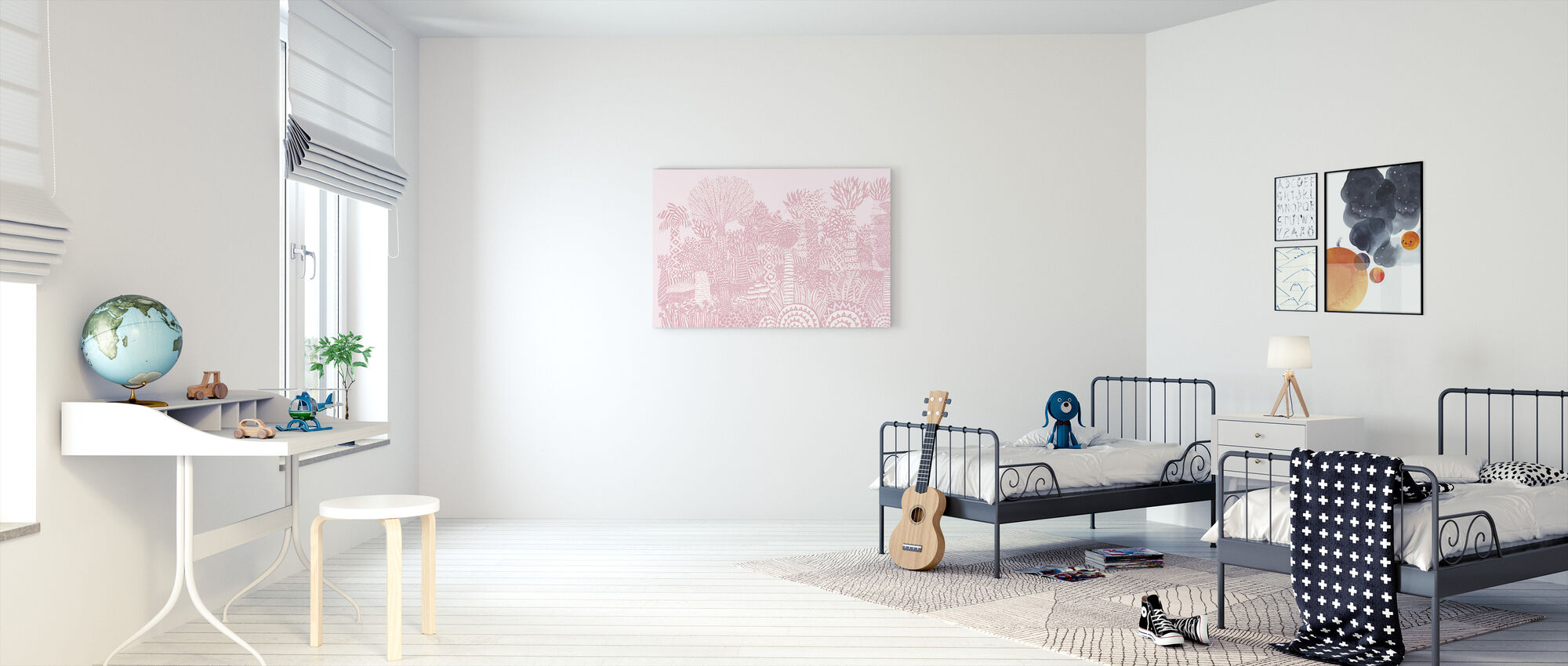 Jungle Pink - Canvas print - Kids Room