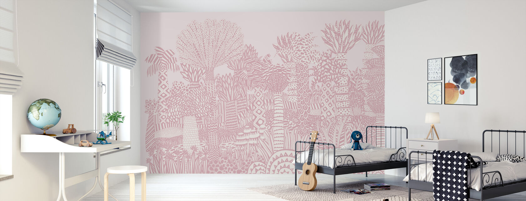 Jungle Pink - Tapete - Kinderzimmer