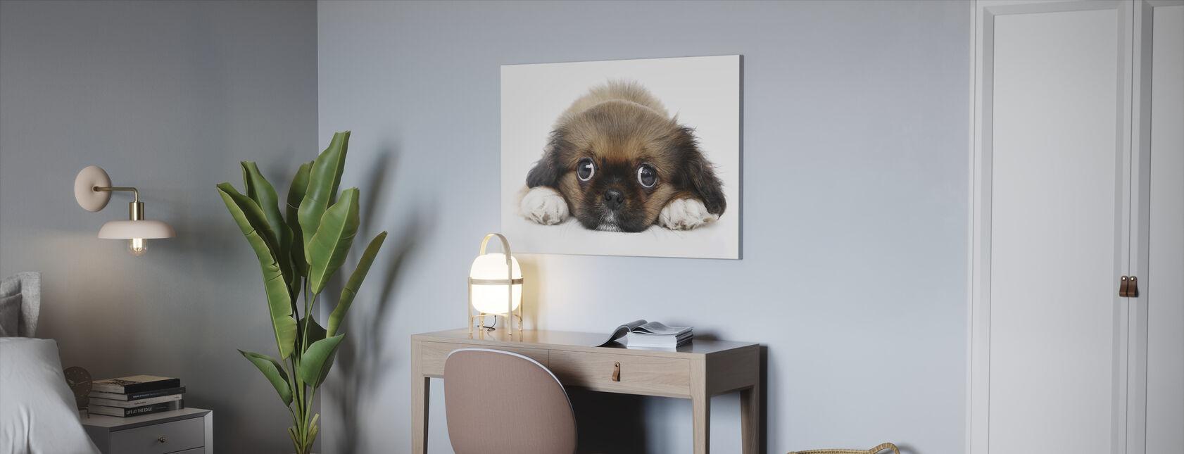 Store øyne - Lerretsbilde - Kontor