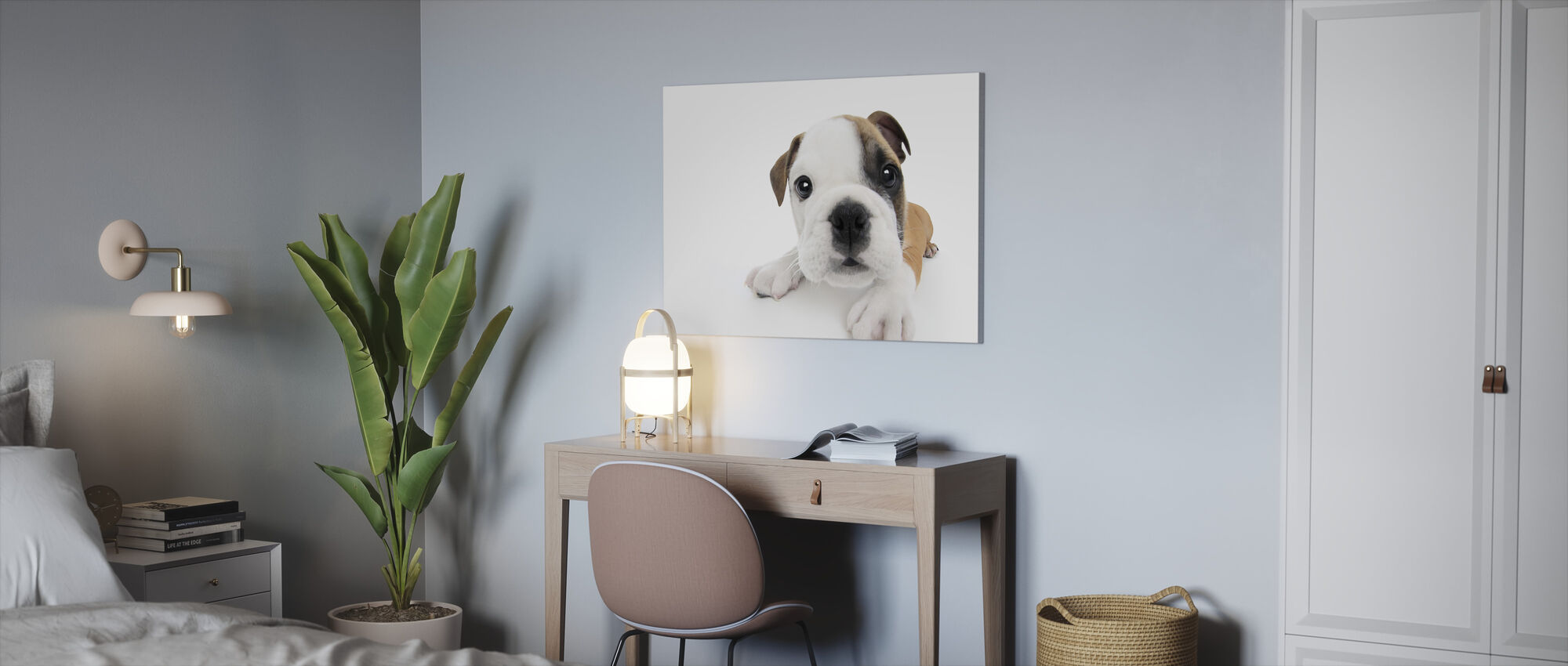 Curious Puppy - Canvas print - Office