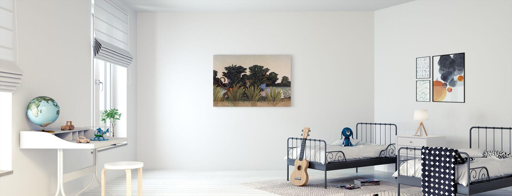 Dolda Leopard - Canvastavla - Barnrum