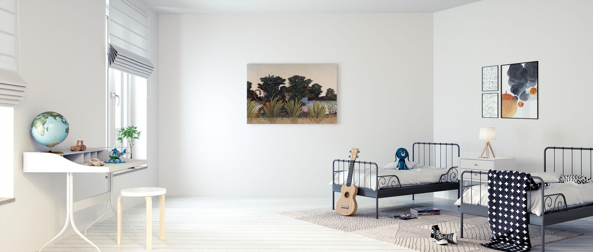 Hidden Leopard - Canvas print - Kids Room