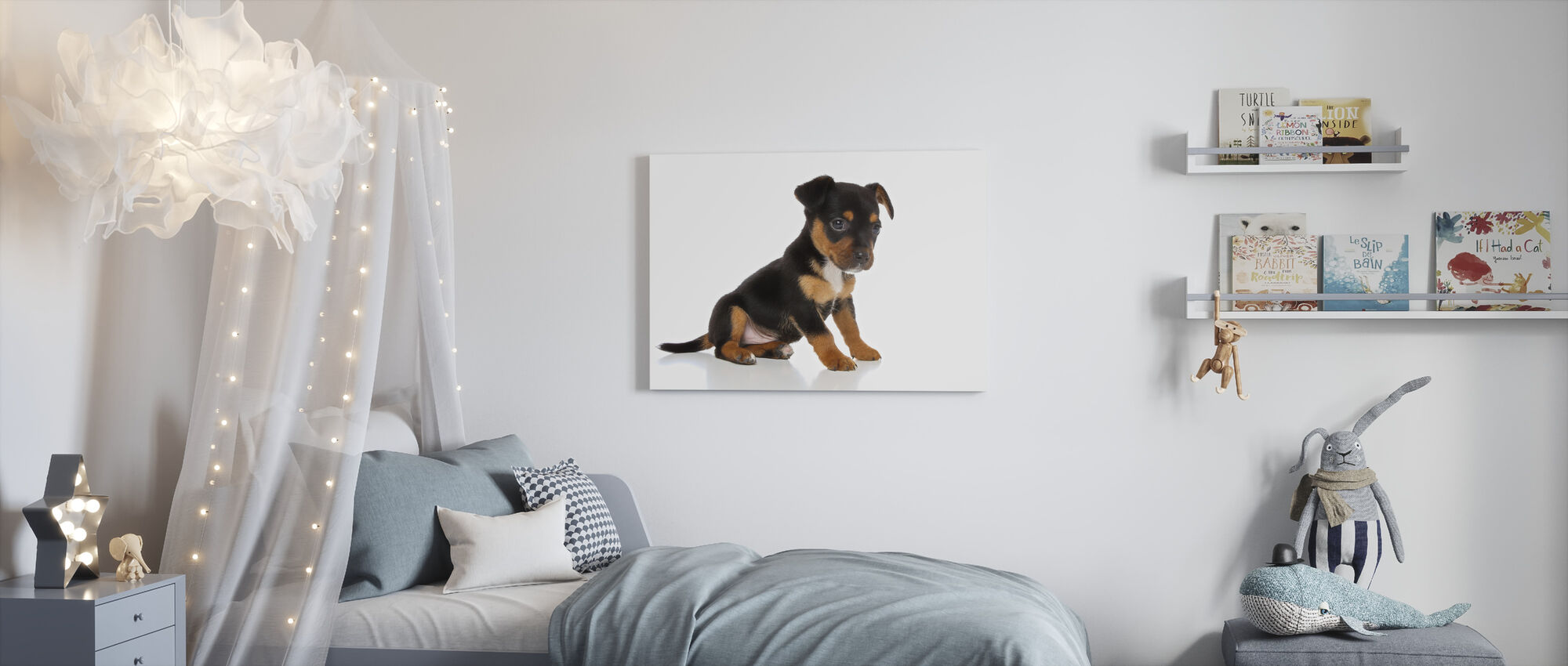 Cutest Puppy - Canvas print - Kids Room