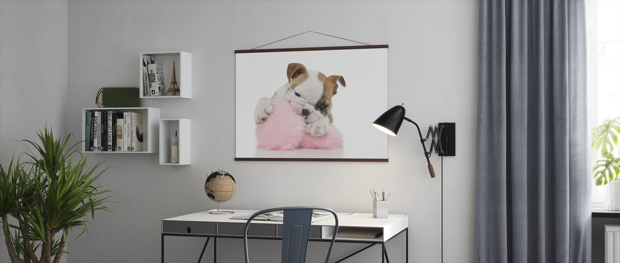 Busiga Bulldog valp - Poster - Kontor