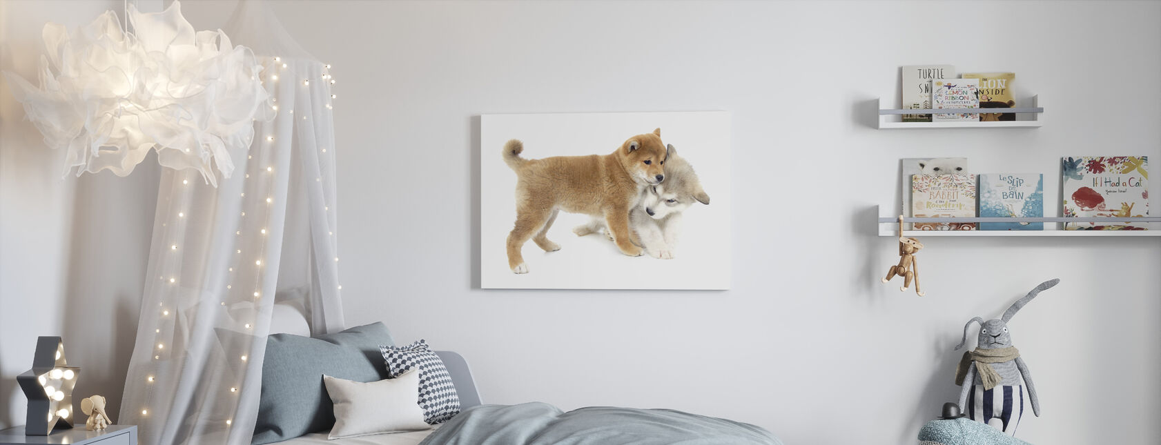 Puppies Playing - Canvas print - Kids Room