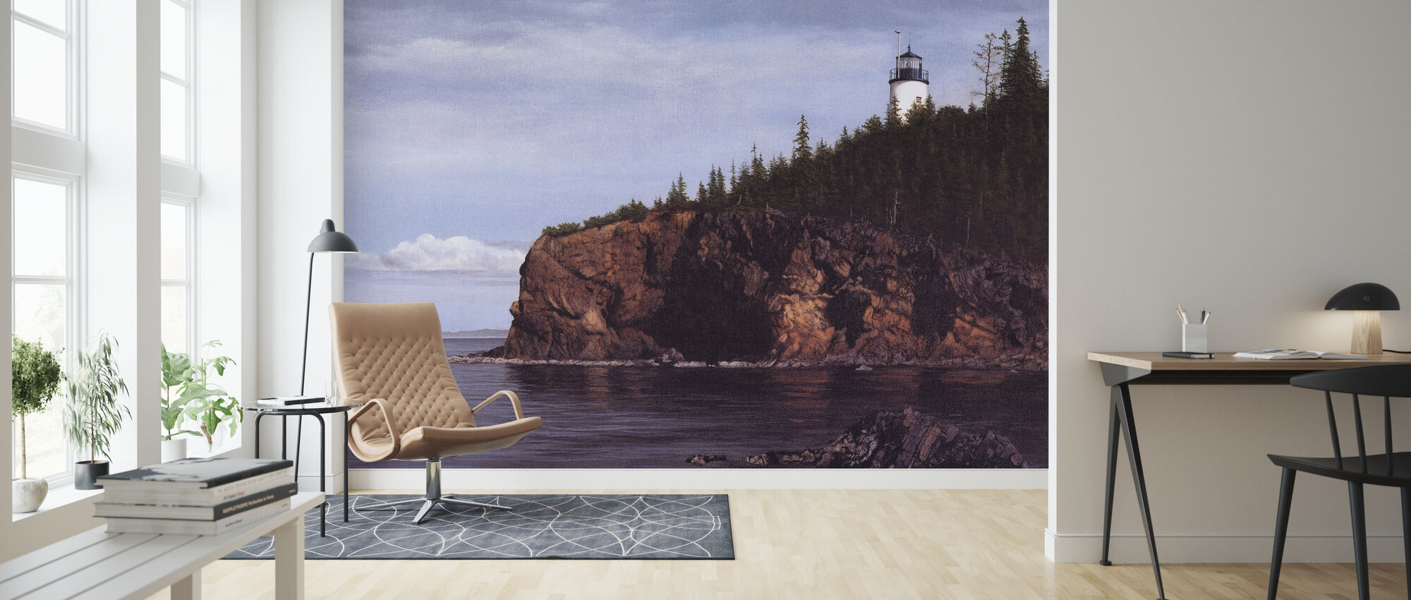 Owl's Head Light - Wallpaper - Living Room