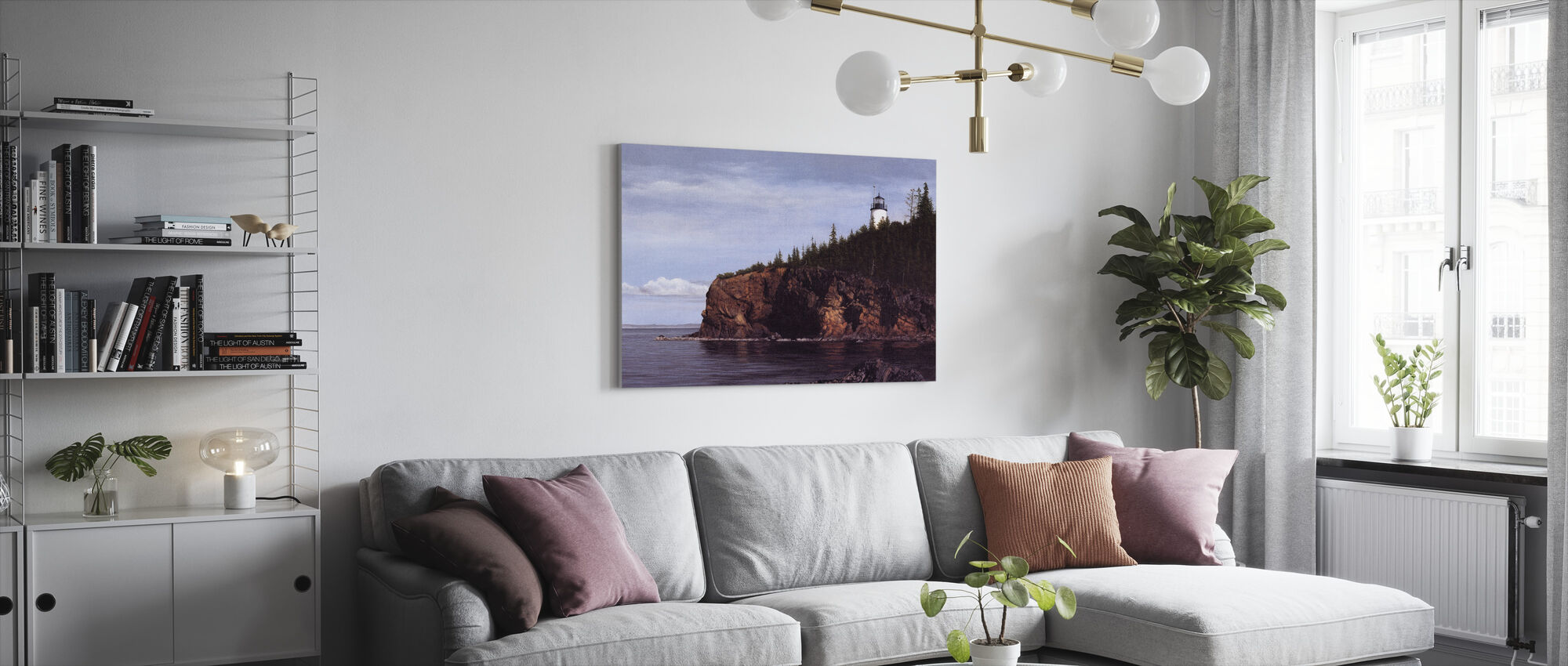 Owl's Head Light - Canvas print - Living Room