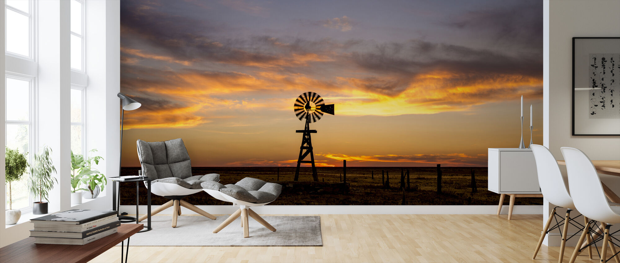 Plains Windmill - Wallpaper - Living Room