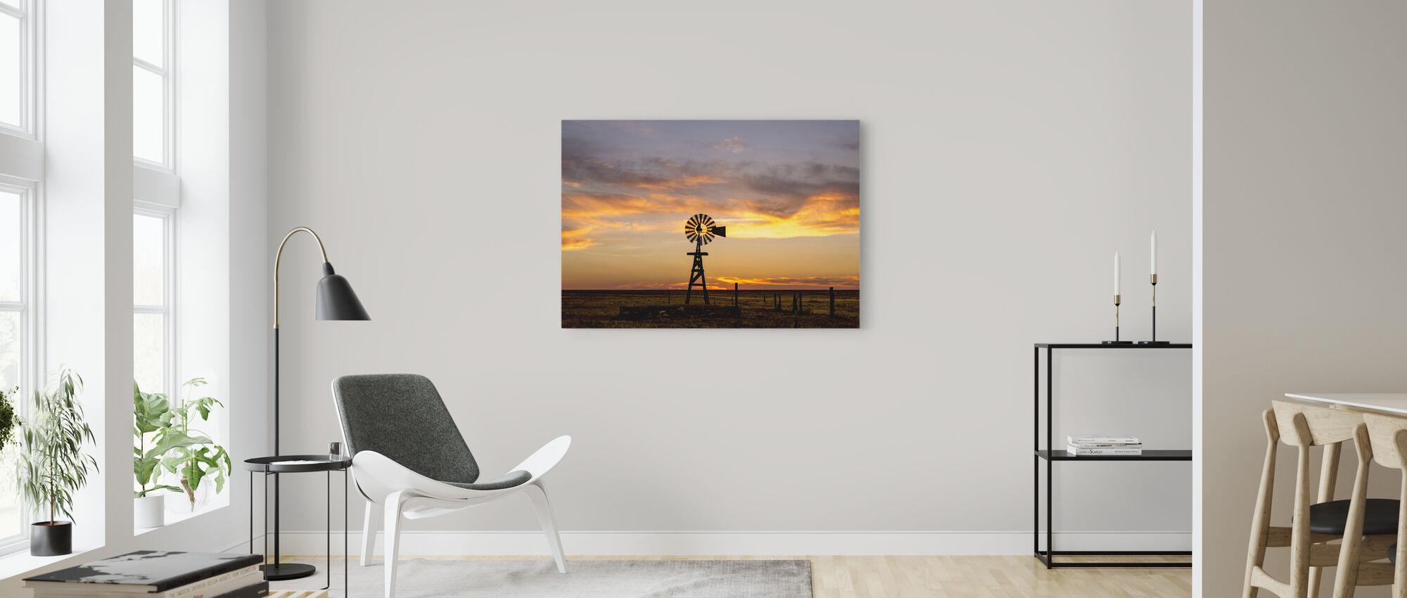 Plains Windmill - Canvas print - Living Room
