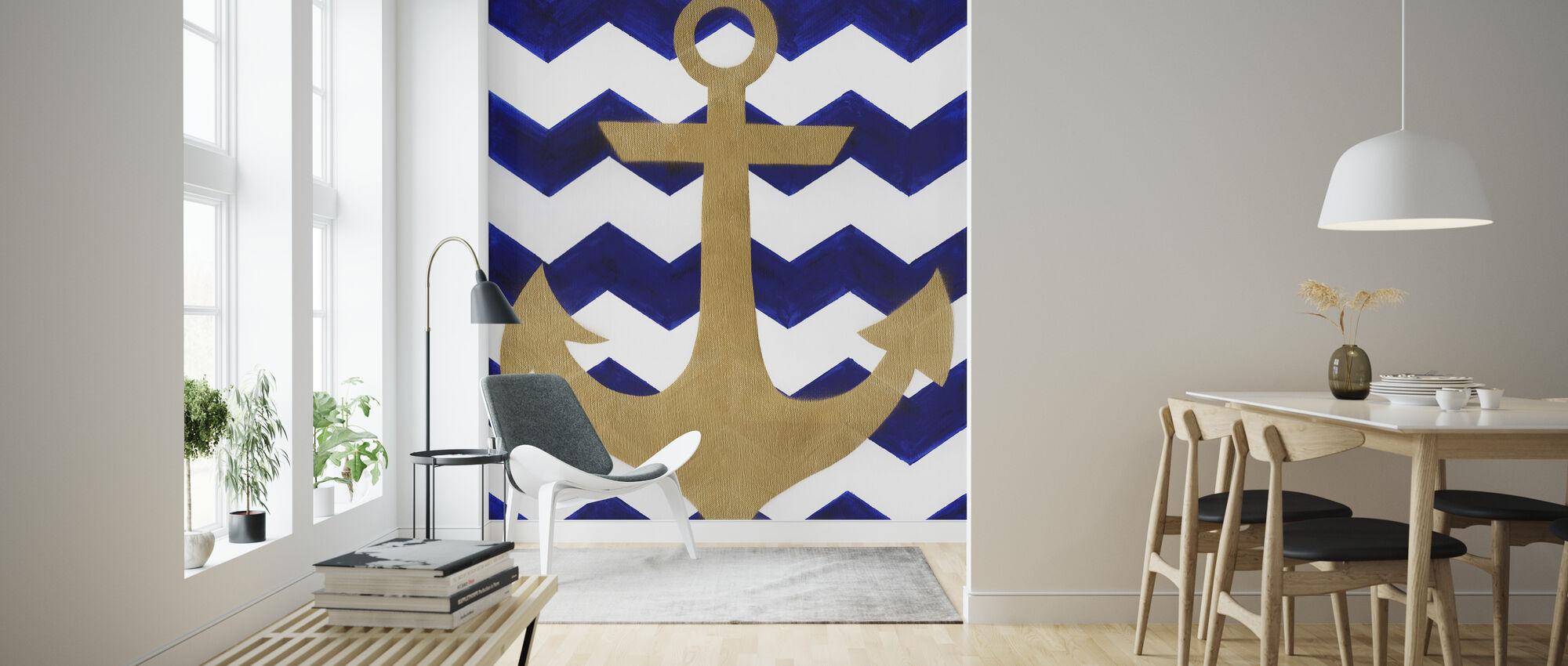 Chevron Anchor - Wallpaper - Living Room