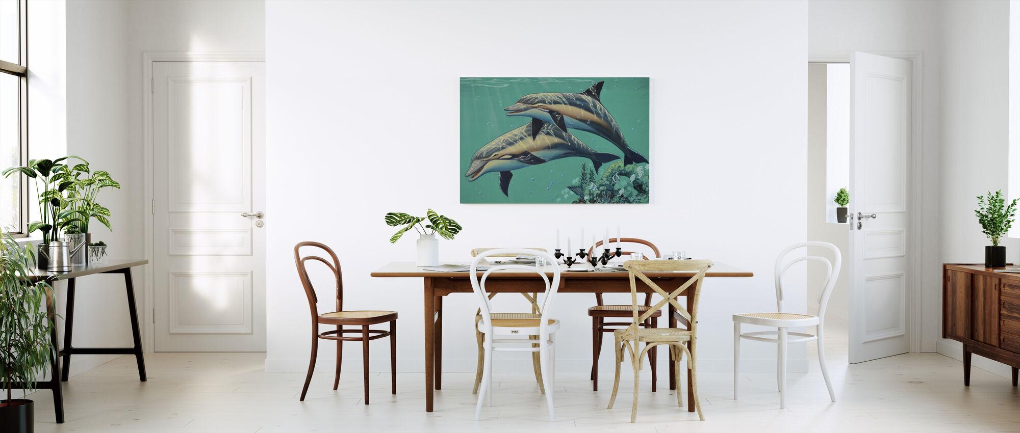 Vanliga Delfiner - Canvastavla - Kök
