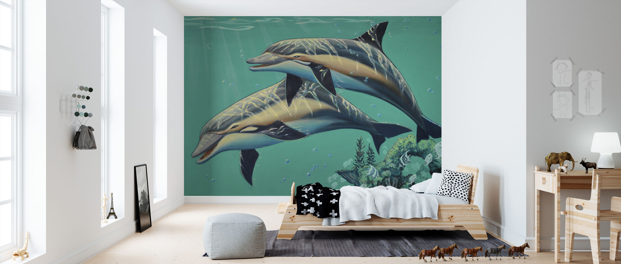Common Dolphins - Wallpaper - Kids Room