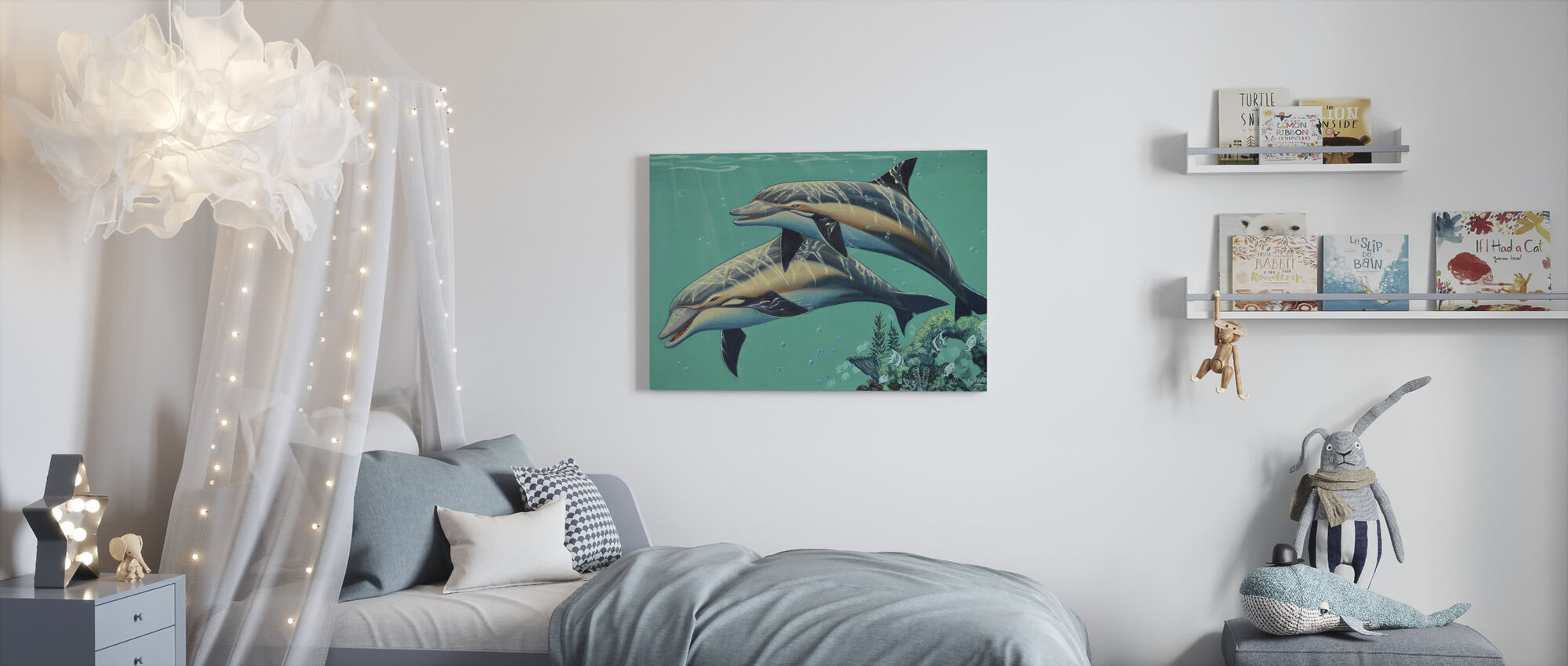 Common Dolphins - Canvas print - Kids Room