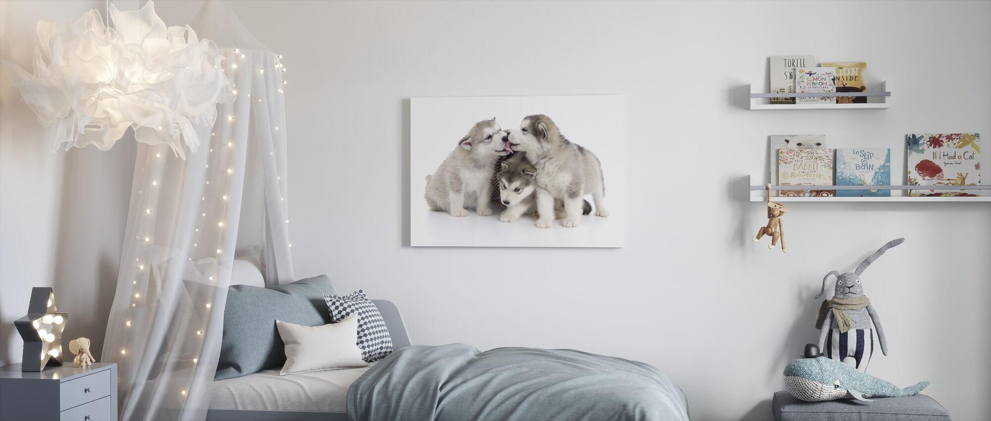 Friendly Puppies - Canvas print - Kids Room