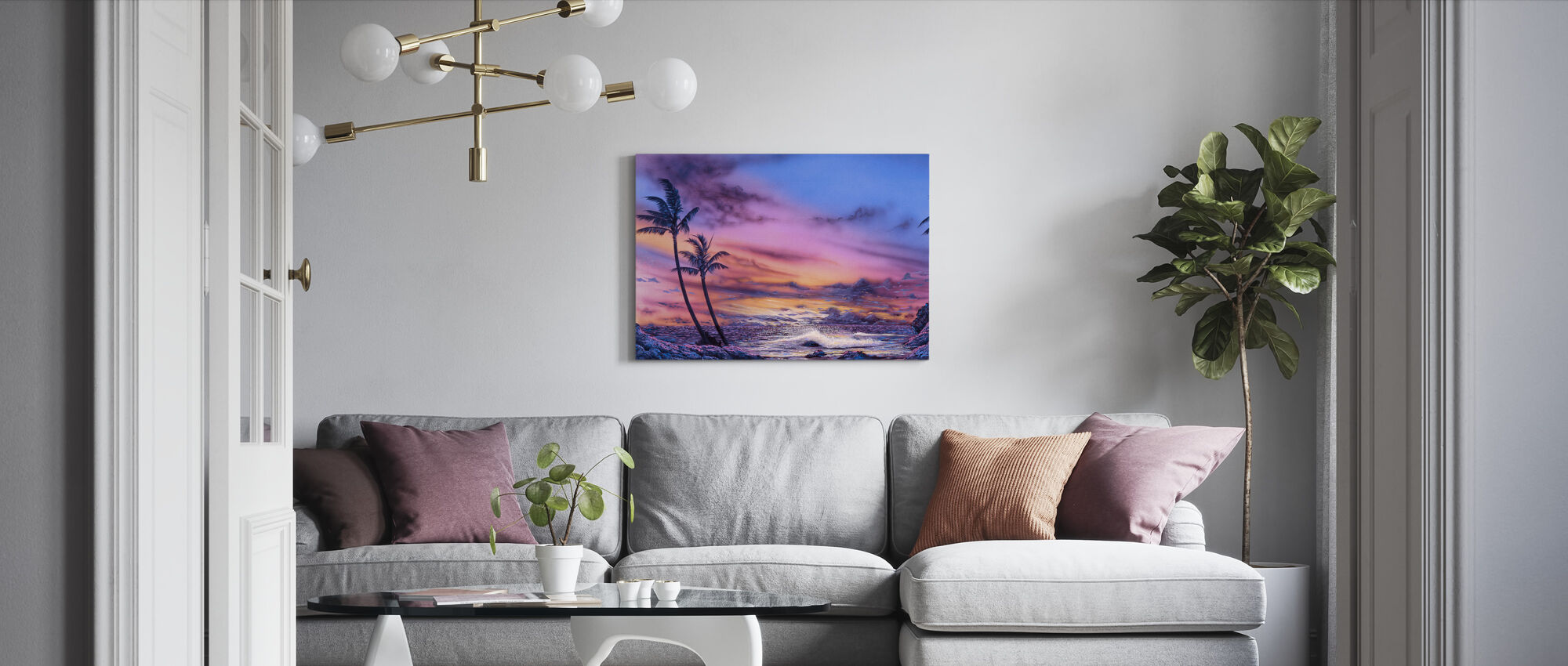 Venus Sunset - Canvas print - Living Room