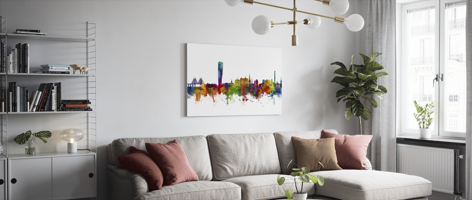 Malmo Skyline - Canvas print - Living Room