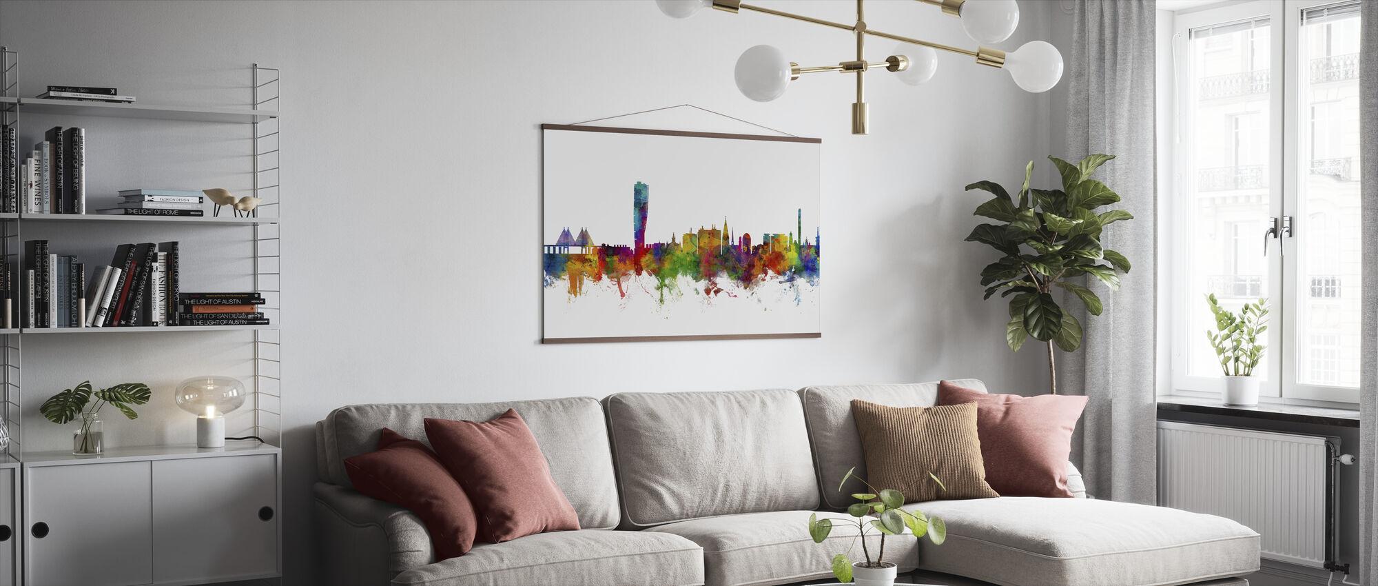 Malmo Skyline - Poster - Living Room