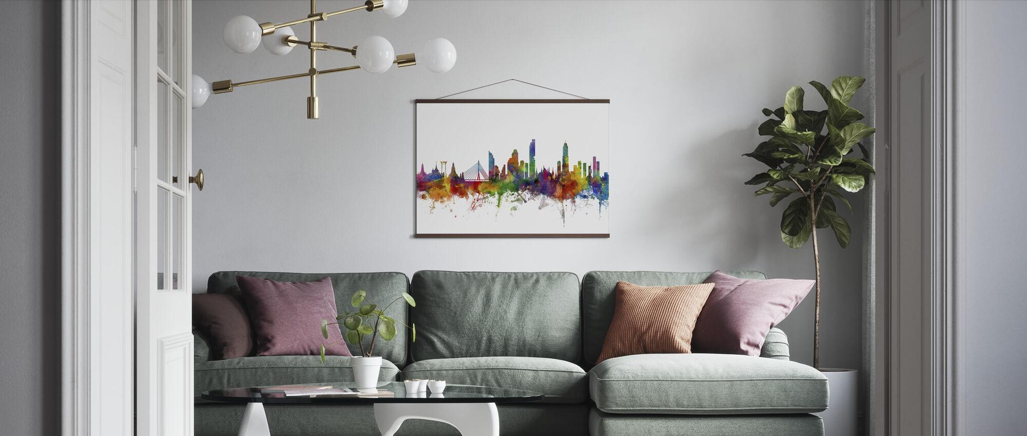 Bangkok Skyline - Poster - Living Room