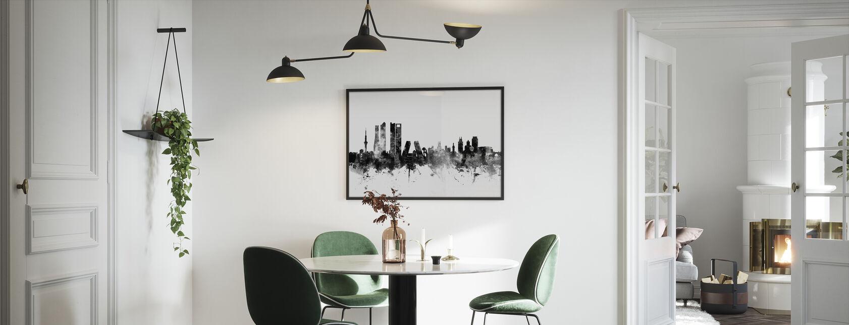Madrid Skyline Black - Print enmarcado - Cocina