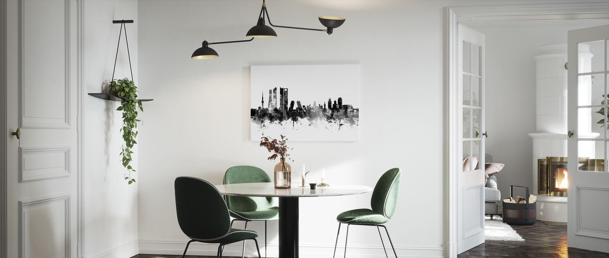 Madrid Skyline Black - Canvas print - Kitchen